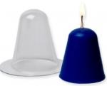 Синяя силиконовая форма для свечей